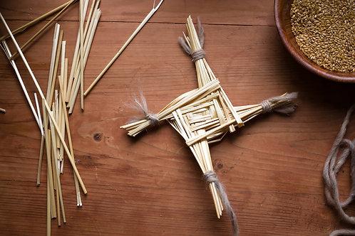 крест бригитты, имболк, громница, соломенный крест, кельтский крест