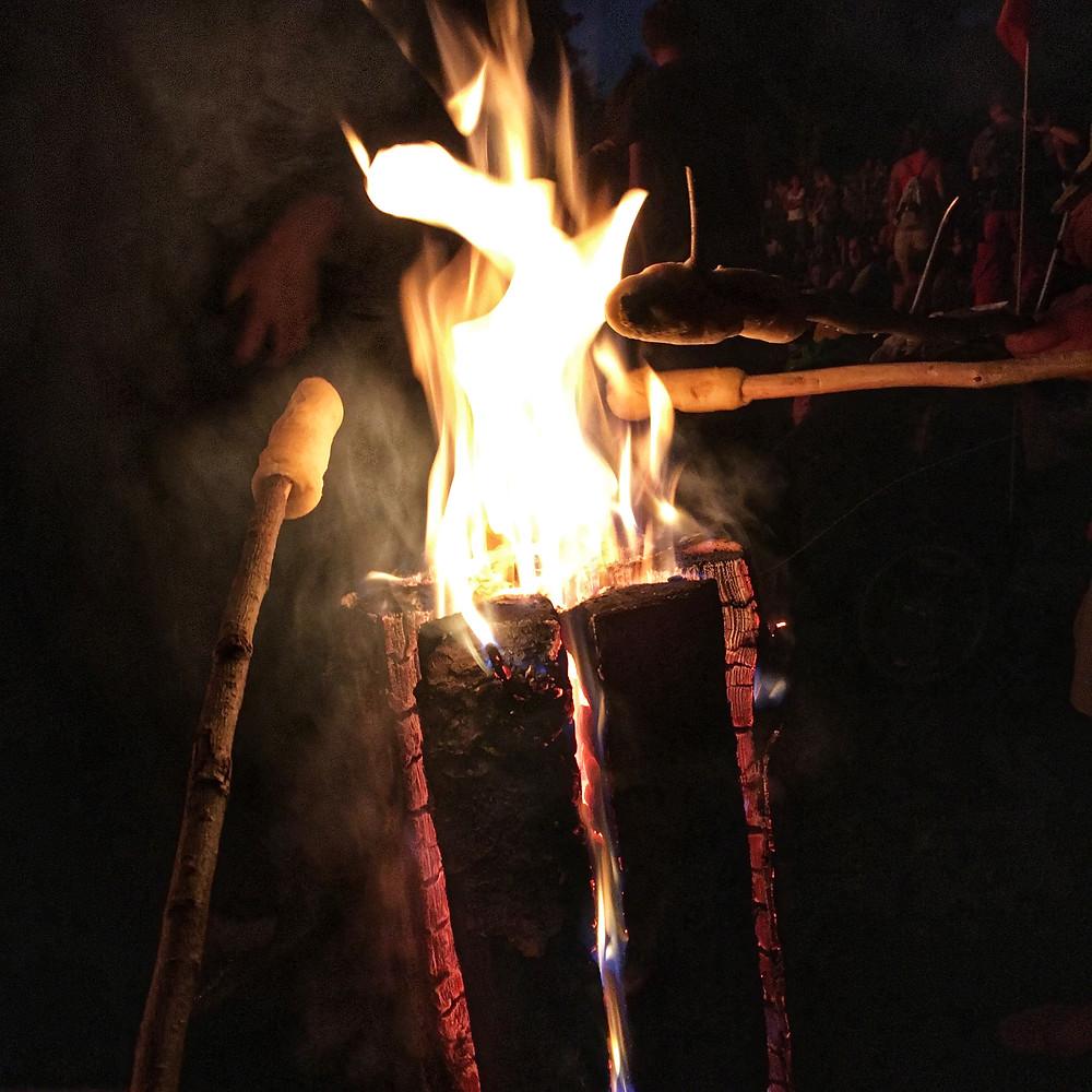 штокброт, огненный хлеб, купальский хлеб