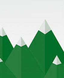 Stylised mountains
