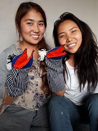 Two girls enjoy teIGWR after school program