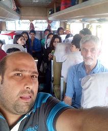 Raja and a van load of volunteers