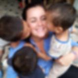 volunteer in Nepal with children