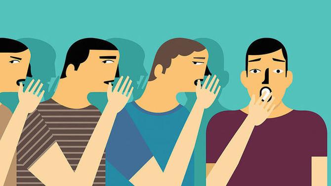 A fofoca morre quando chega aos ouvidos da pessoa inteligente