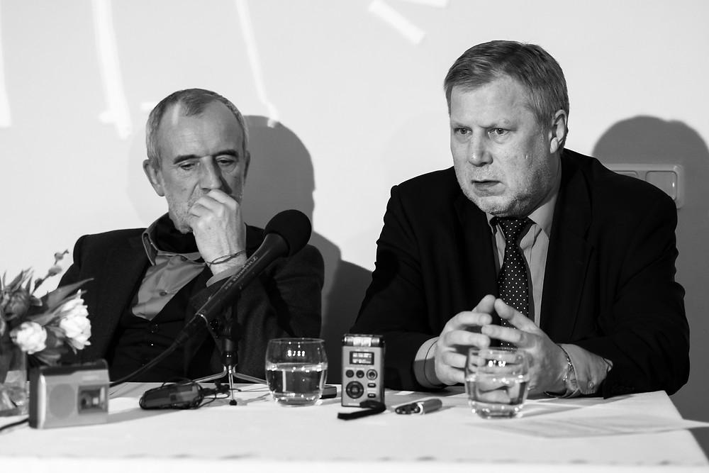 R. Tuminas ir F. Latėnas. Nuotraukos autorė L. Vansevičienė