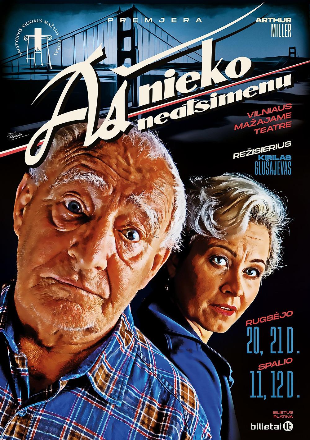 """Teatrinio plakato publikos prizas. """"Aš nieko neatsimenu"""", aut. Pijus Burakas_2018Teatrinio plakato publikos prizas. """"Aš nieko neatsimenu"""", autorius Pijus Burakas 2018"""
