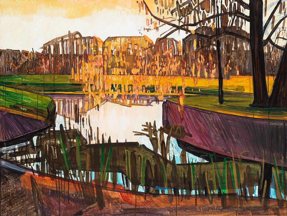 Spring 8. 2020. Acrylic, canvas. 90x120 cm
