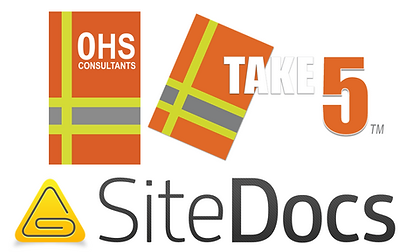OHS Consultants - Take 5 - SiteDocs logos