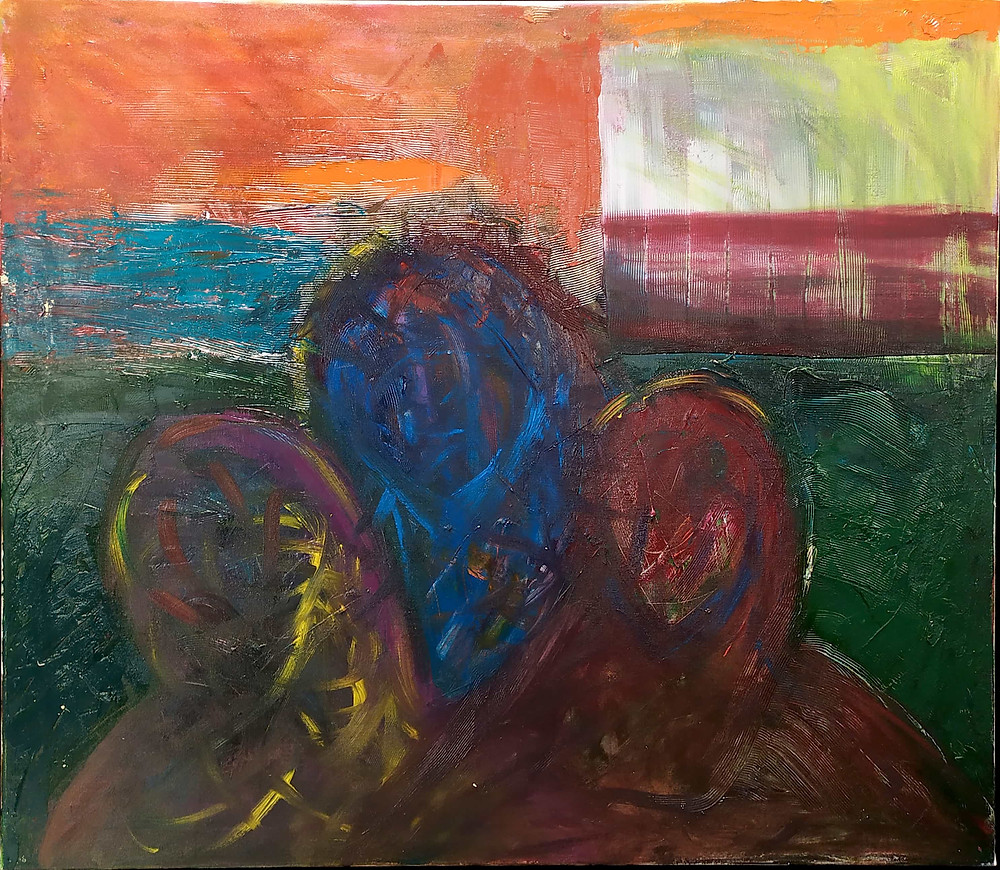 """Antanas Jasenka """"Three fish watch the sunset"""" 2021"""