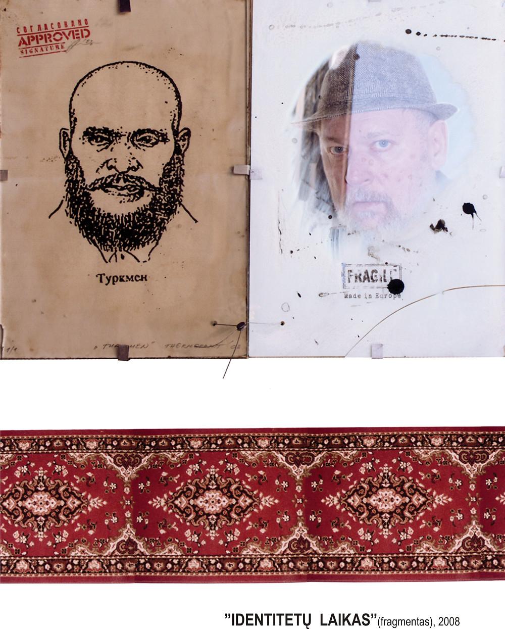 """Anatolijus Klemencovas ,,Identitetų laikas"""" (fragmentas) / Nuotrauka autoriaus."""