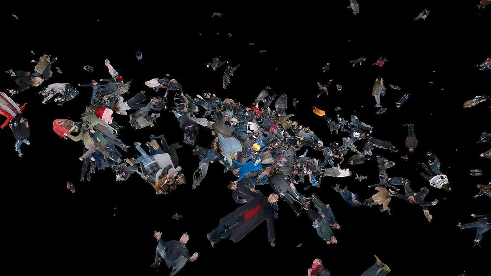 """0Julijono Urbono kūrinio """"Planeta iš žmonių"""" vizualizacija"""
