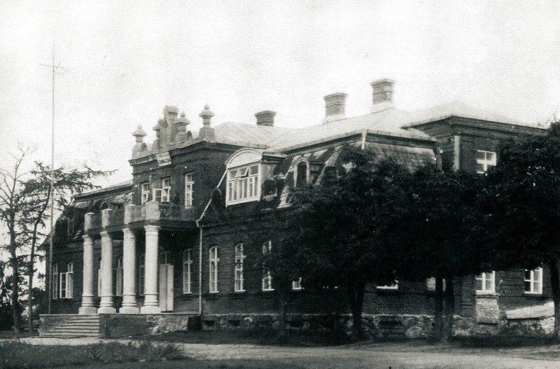 Dvaro rūmai prieš rekonstrukciją 1927 / Utenos kraštotyros muziejaus fondo nuotrauka