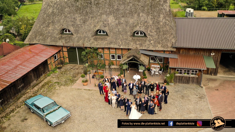 Drohnenfoto Hochzeit