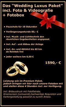 Wedding Luxus Paket Preis