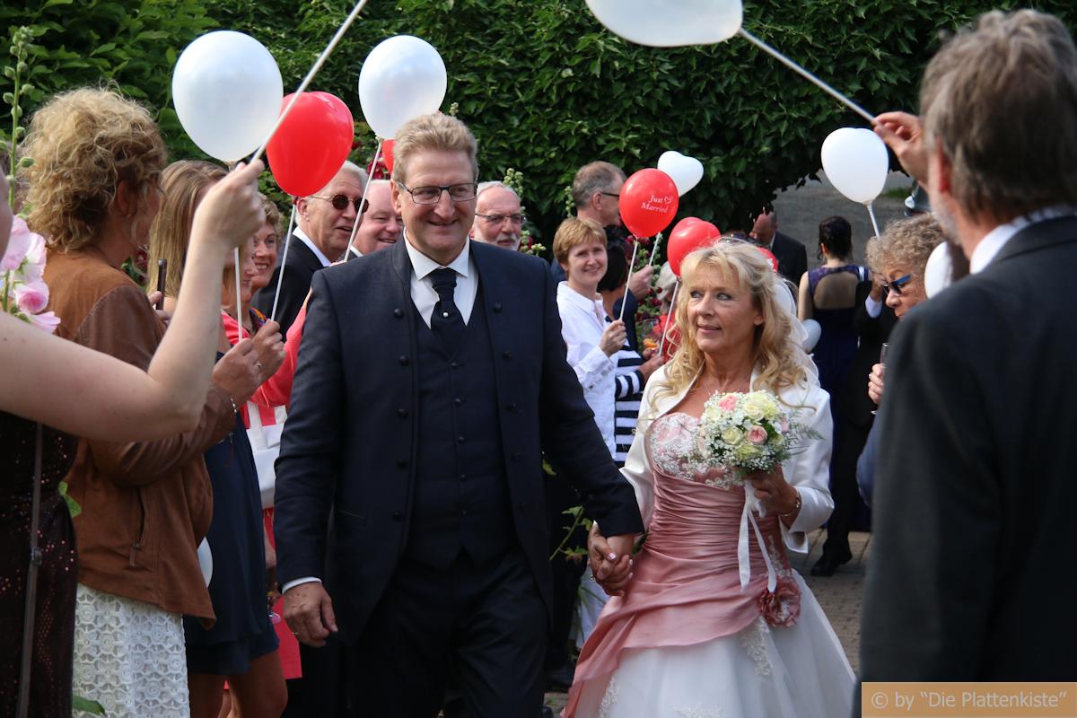 Empfang Brautpaar