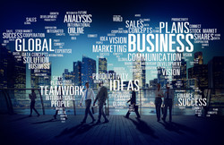 Global business map of activities