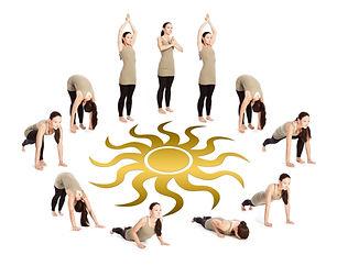Yoga-Sonnengruss bei Lady Vitalis