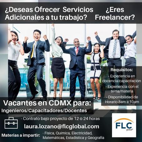 Excelente Oportunidad para capacitadores en Ciudad de México.