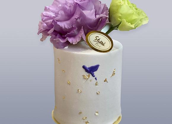 伯爵紅茶洋桔梗蛋糕