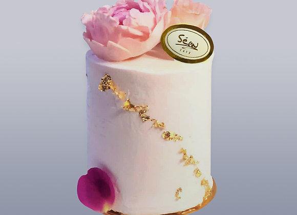 粉紅牡丹蛋糕