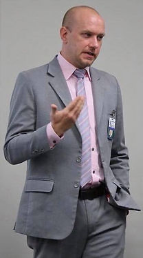Dr. Eric Davis during a public speaking engagement