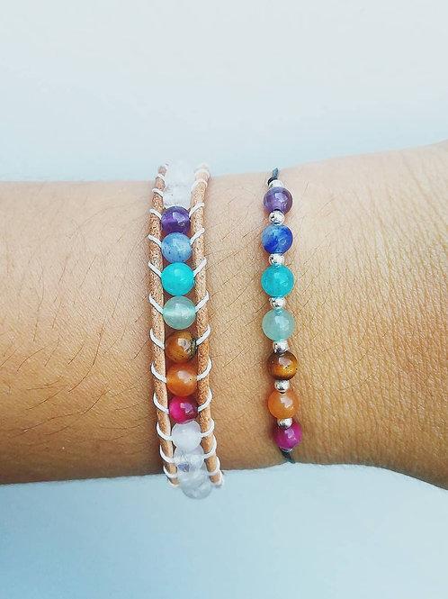 CHAKRA // 13 sterling silver 925 beads (bracelet right)