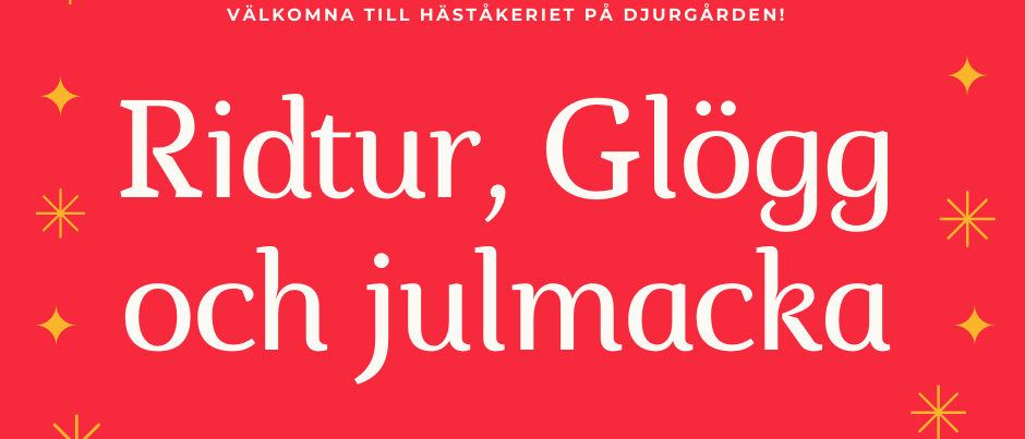 Ridtur, Glögg och Julmacka - gruppbokning