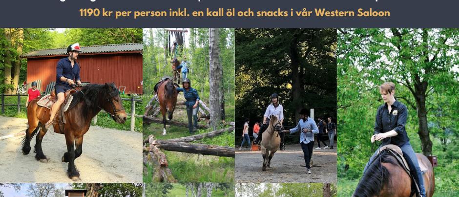 Häståkeriets Naturhinderbana, lagtävlingar & en kall AW plus snacks i Saloonen!