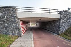 tunnelwand voorzien van keramiek