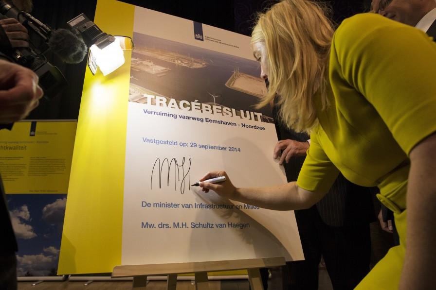 ondertekening tracebesluit