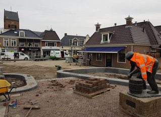 Sneakpreview nieuw Halbertsma's plein in Grou