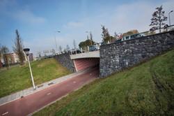 frontwand fietstunnel