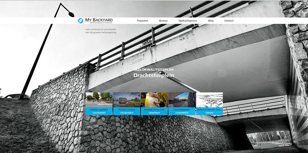 nieuwe website My Backyard