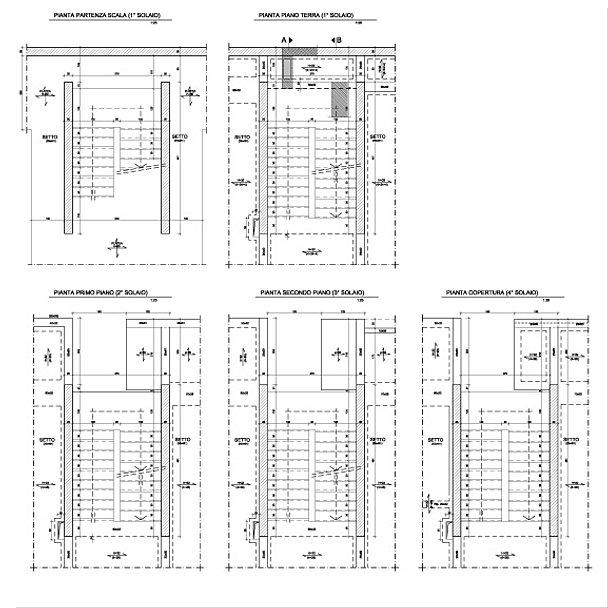 Kairos engineering srl societ d 39 ingegneria for Scale in pianta