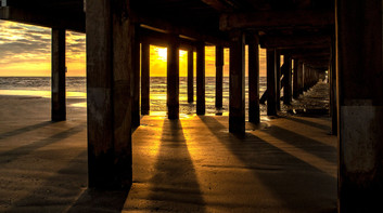 Under the Pier at Sunrise