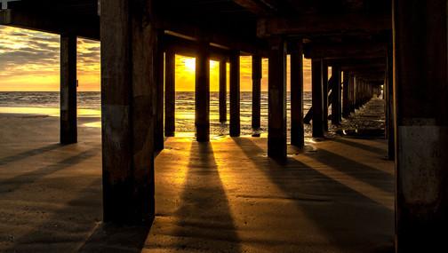Under the Pier at Sunrise