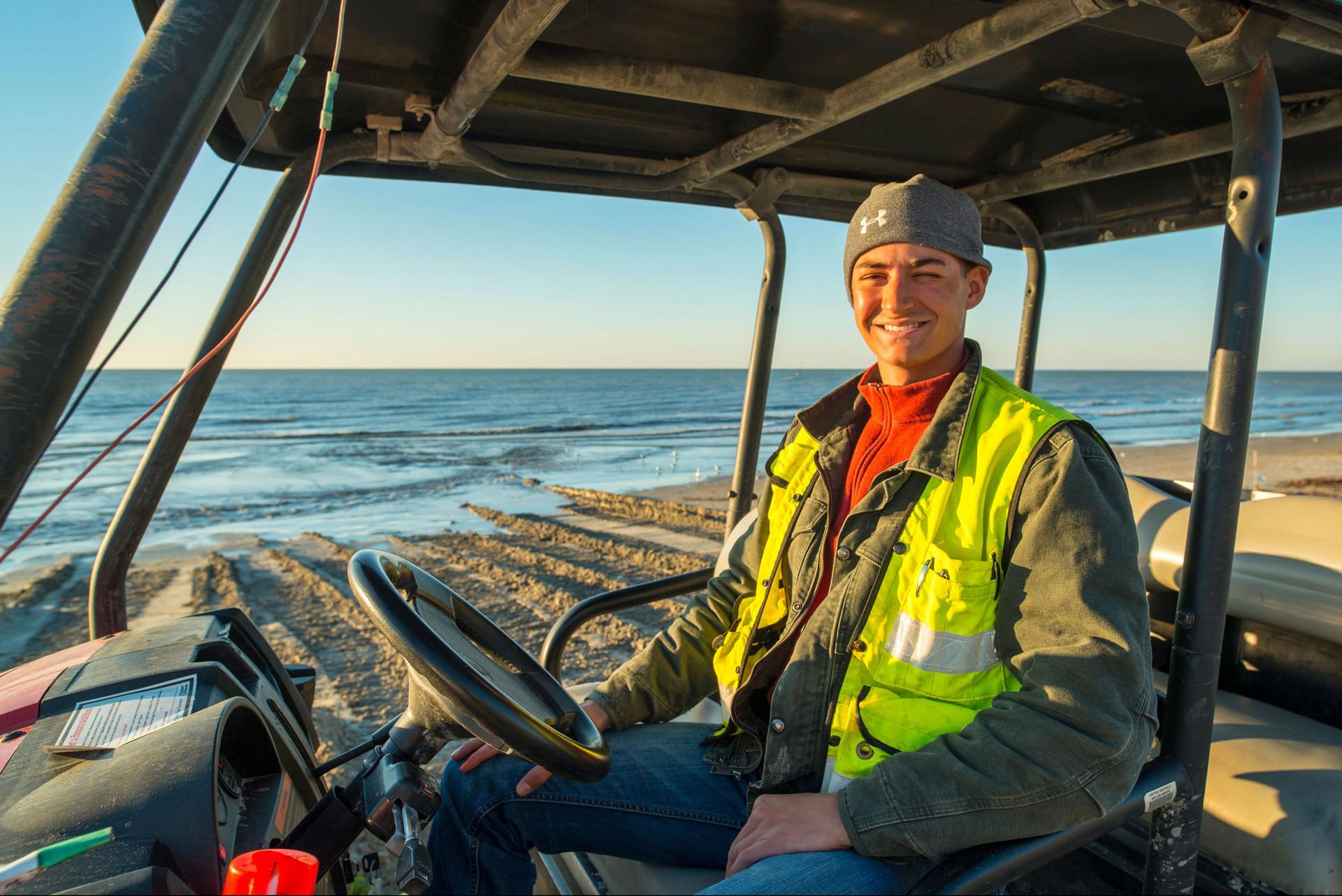Portrait of a Beach Builder