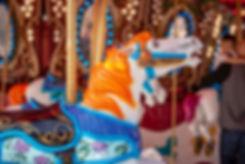 Orange Flame Carousel horse