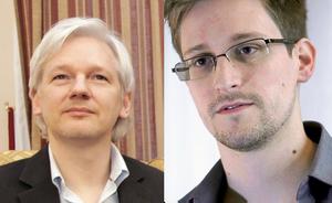 Julian Assange y Edward Snowden