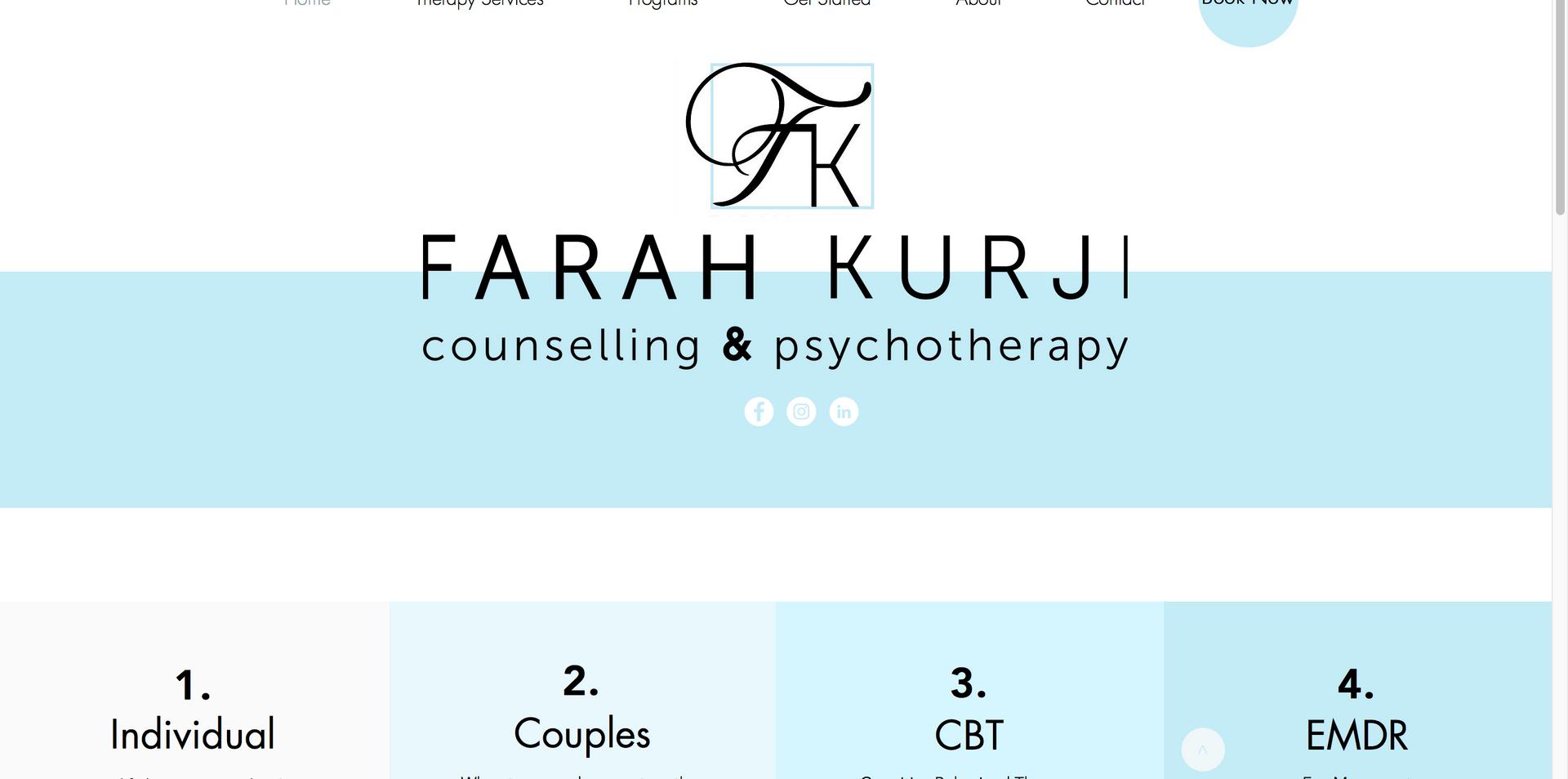 Farah Kurji Counselling & Psychotherapy