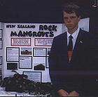 Carey College student with mangroves project