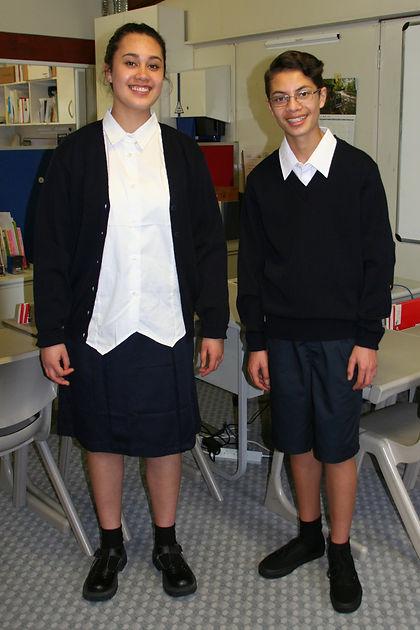Carey College students in uniform