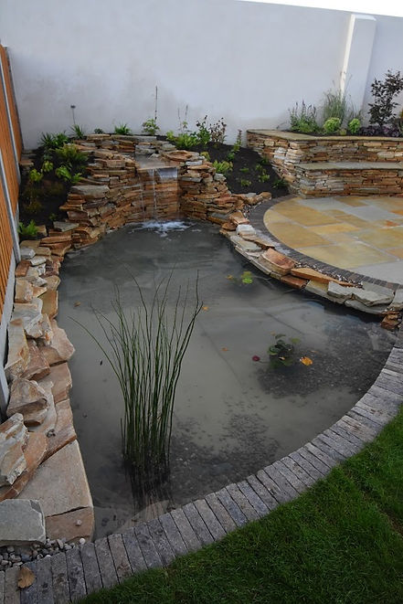 Informal water feature - pond and water