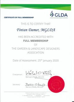 GLDA membership cert