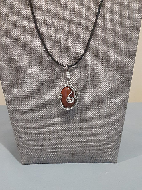 Wire-wrapped Red Jasper Stone