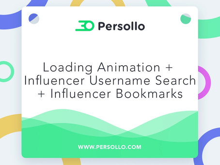 Product Update: Loading Animation + Influencer Directory Bookmarks + Influencer Directory Username S