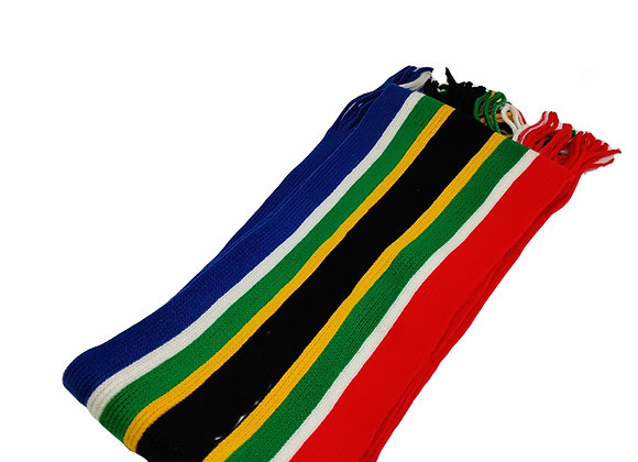 South African themed rugby scarf
