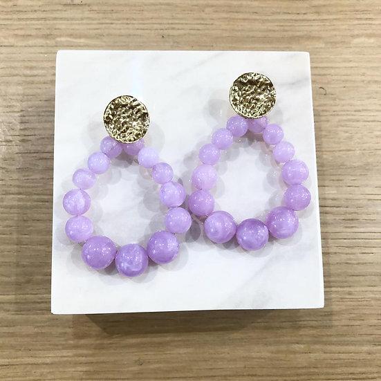 BOUCLES NINA (violettes)