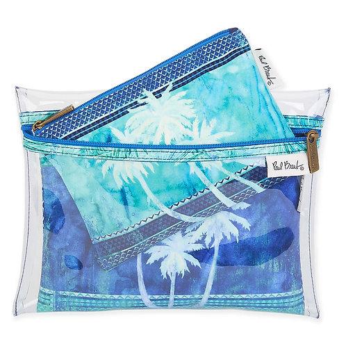 Turquoise Palms Set de 3 Cosmeteras