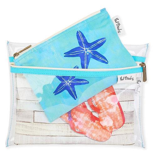 Starfish & Sandals Set de 3 Cosmeteras