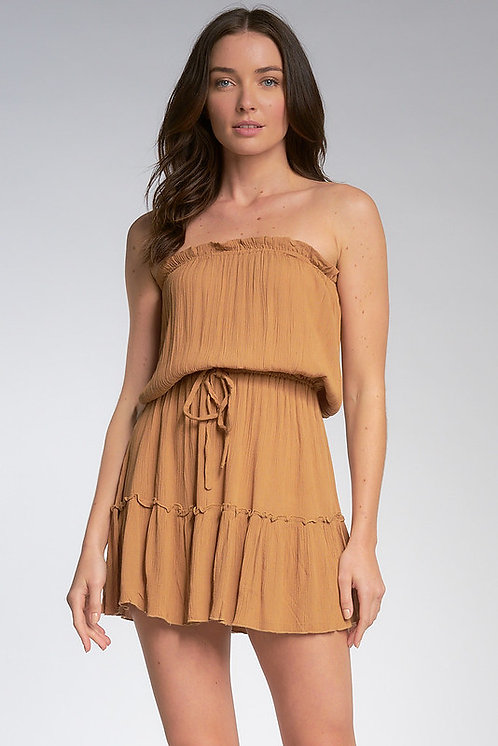Vestido Strapless Caramel